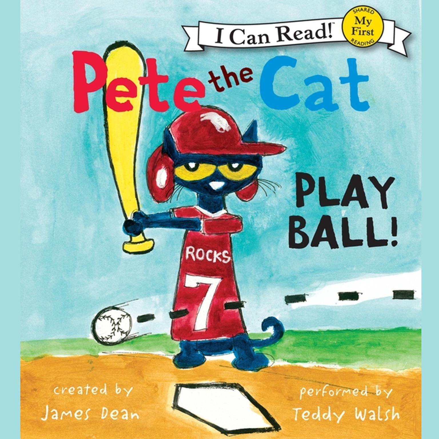 Printable Pete the Cat: Play Ball! Audiobook Cover Art