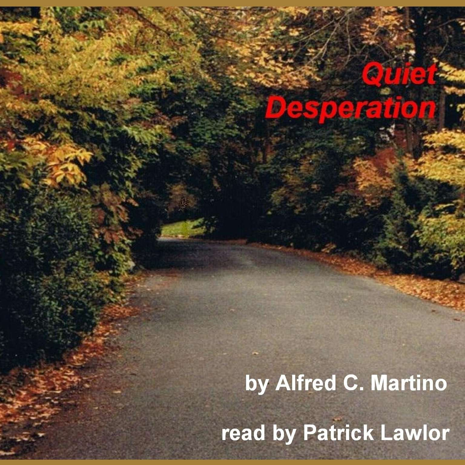 Printable Quiet Desperation Audiobook Cover Art
