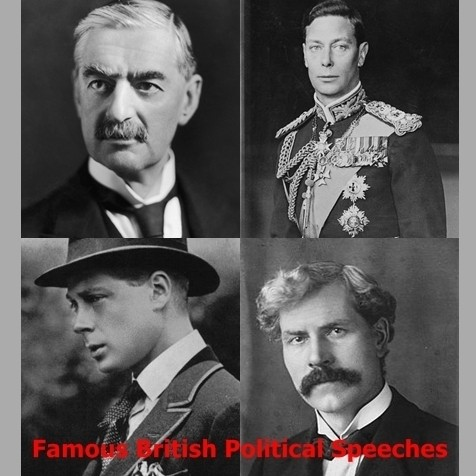 Printable Famous British Political Speeches Audiobook Cover Art