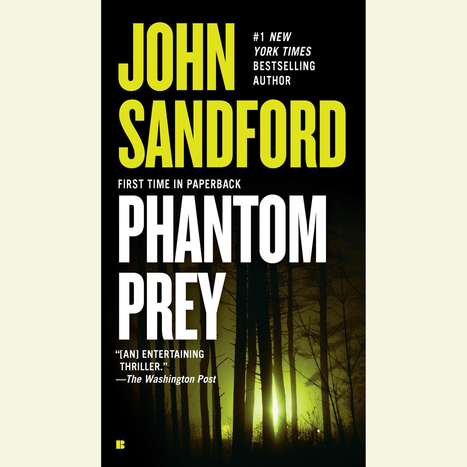 Printable Phantom Prey Audiobook Cover Art