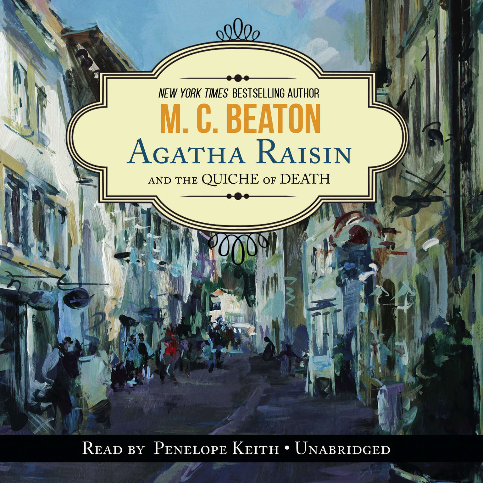 Printable Agatha Raisin and the Quiche of Death Audiobook Cover Art