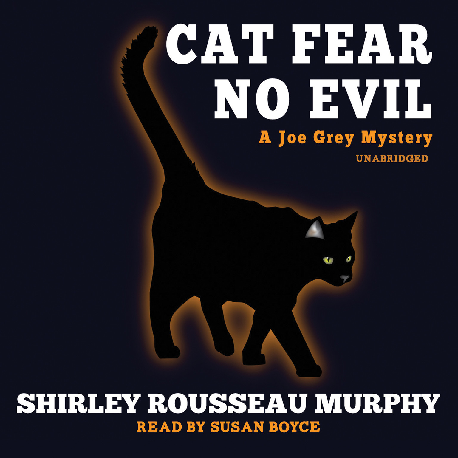 Printable Cat Fear No Evil Audiobook Cover Art