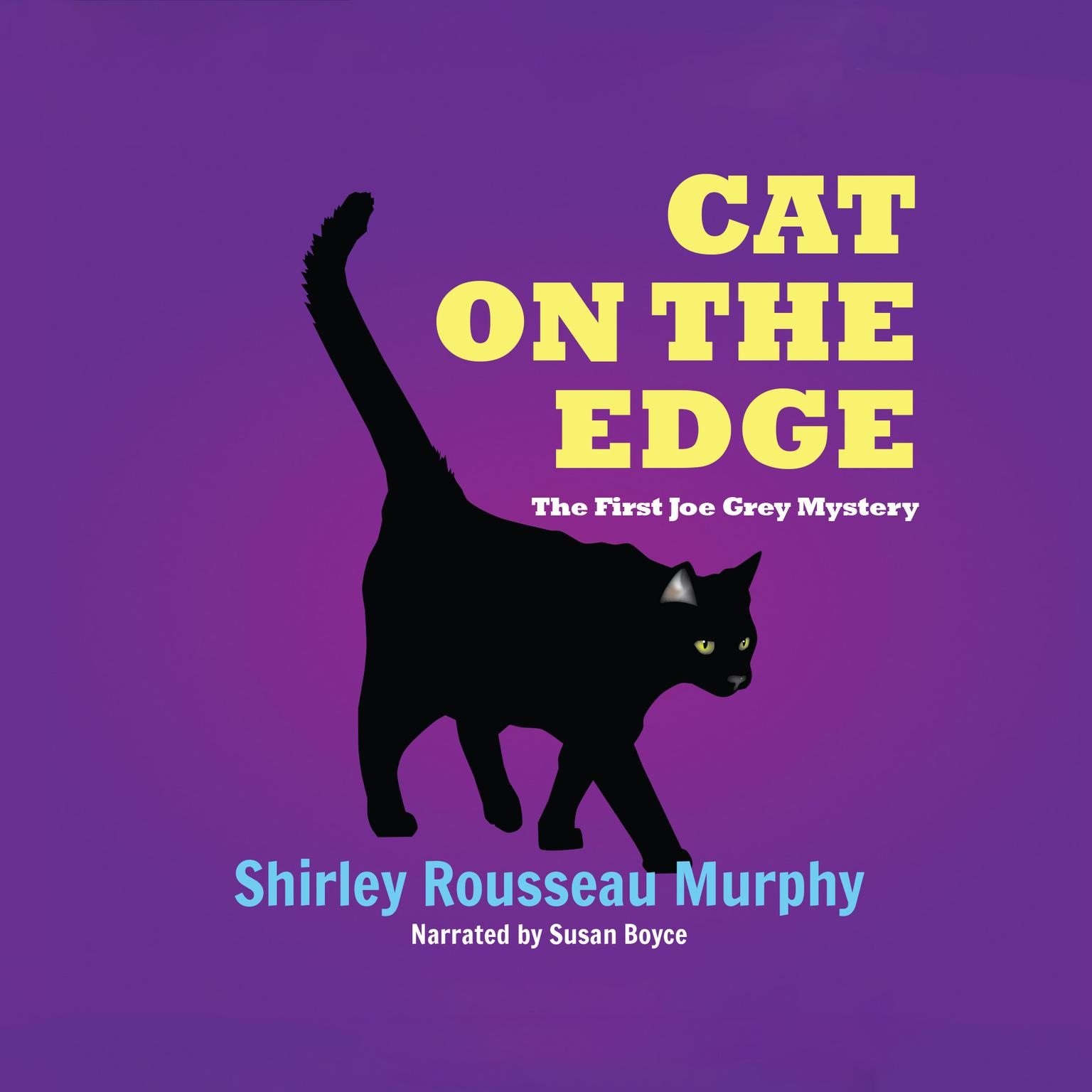 Printable Cat on the Edge: A Joe Grey Mystery Audiobook Cover Art