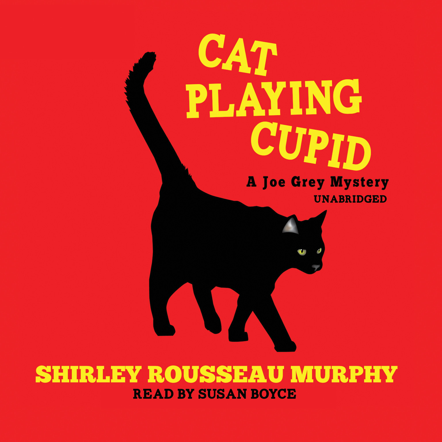 Printable Cat Playing Cupid Audiobook Cover Art