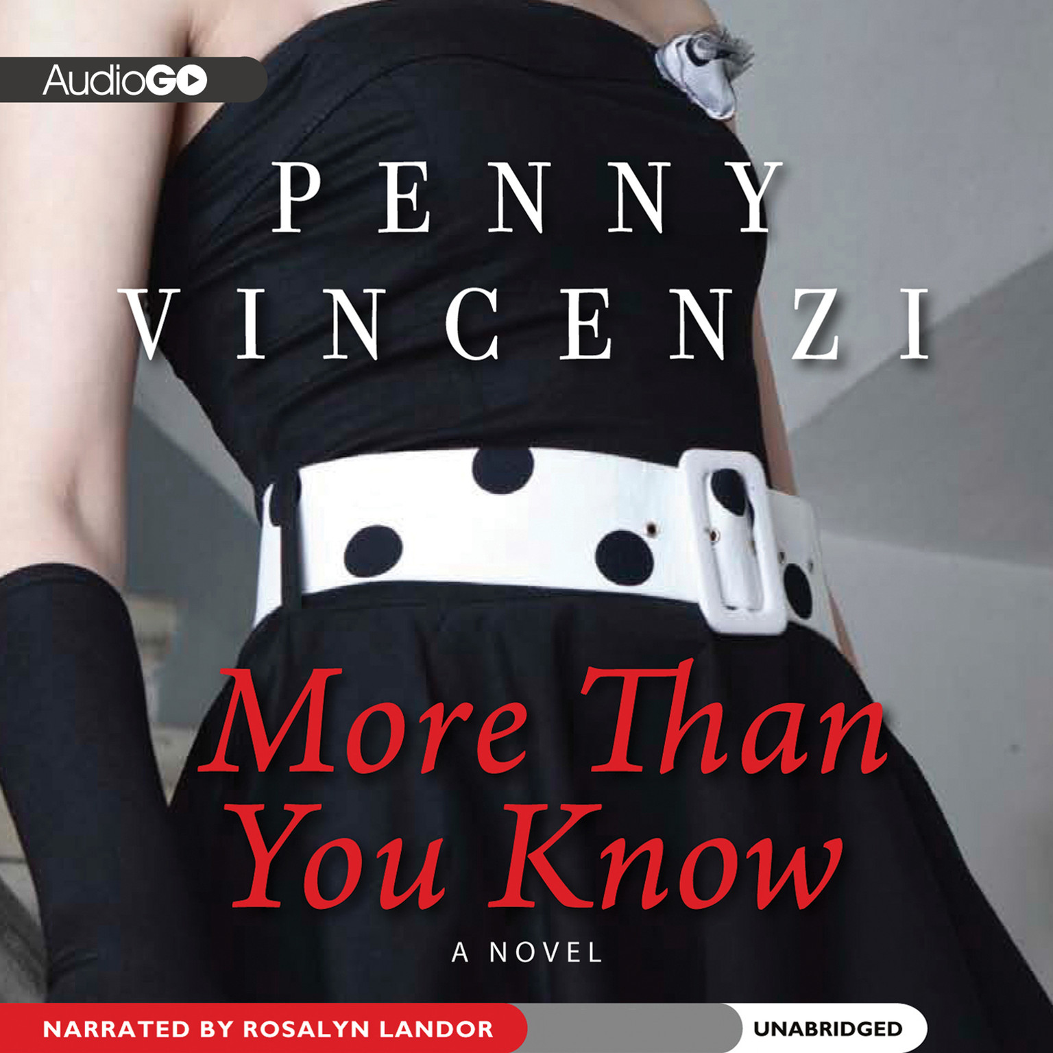Printable More Than You Know: A Novel Audiobook Cover Art