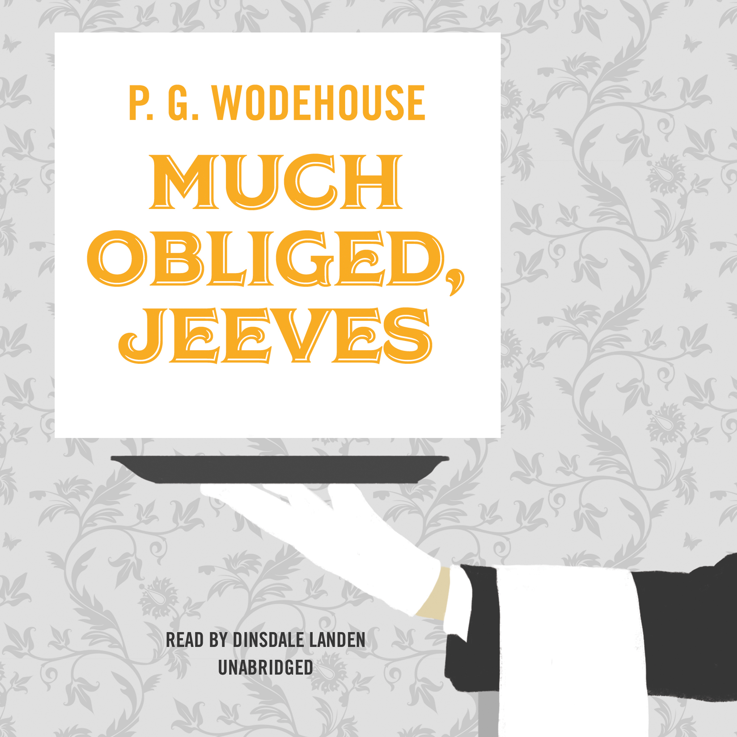 Printable Much Obliged, Jeeves Audiobook Cover Art