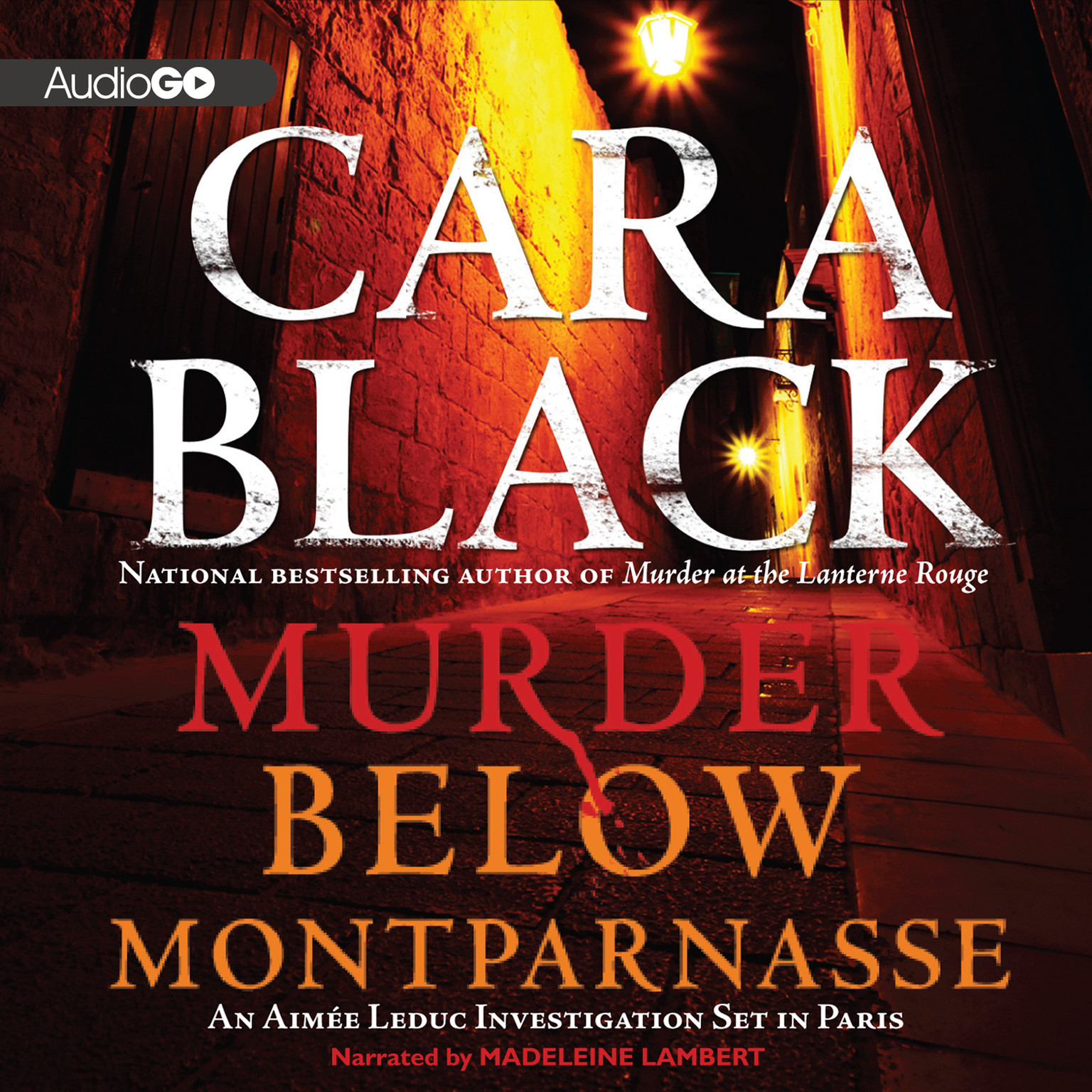 Printable Murder below Montparnasse Audiobook Cover Art