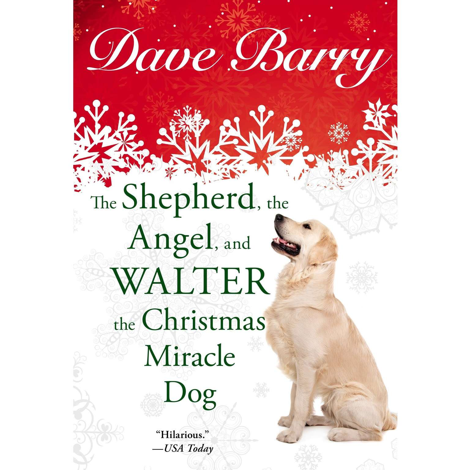 Printable The Shepherd, the Angel, and Walter the Christmas Miracle Dog Audiobook Cover Art