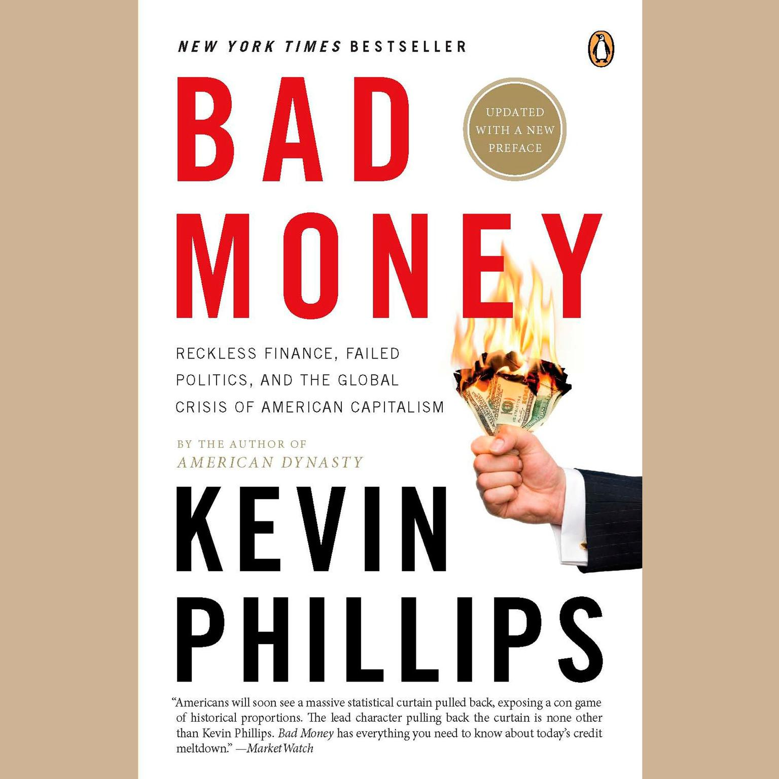 Printable Bad Money: The Inexcusable Failure of American Finance: An Update to Bad Money Audiobook Cover Art