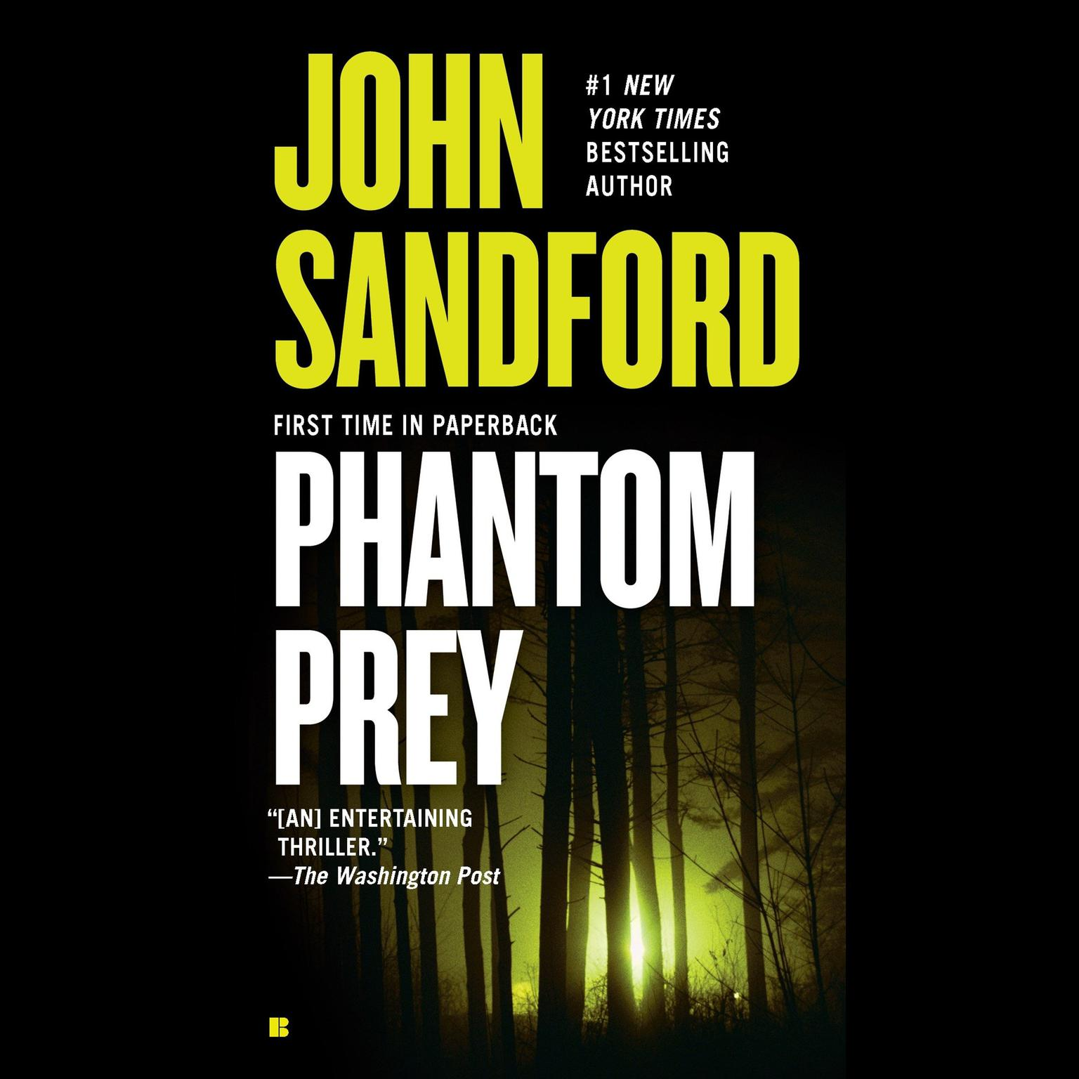 Printable Phantom Prey Audiobook Cover Art