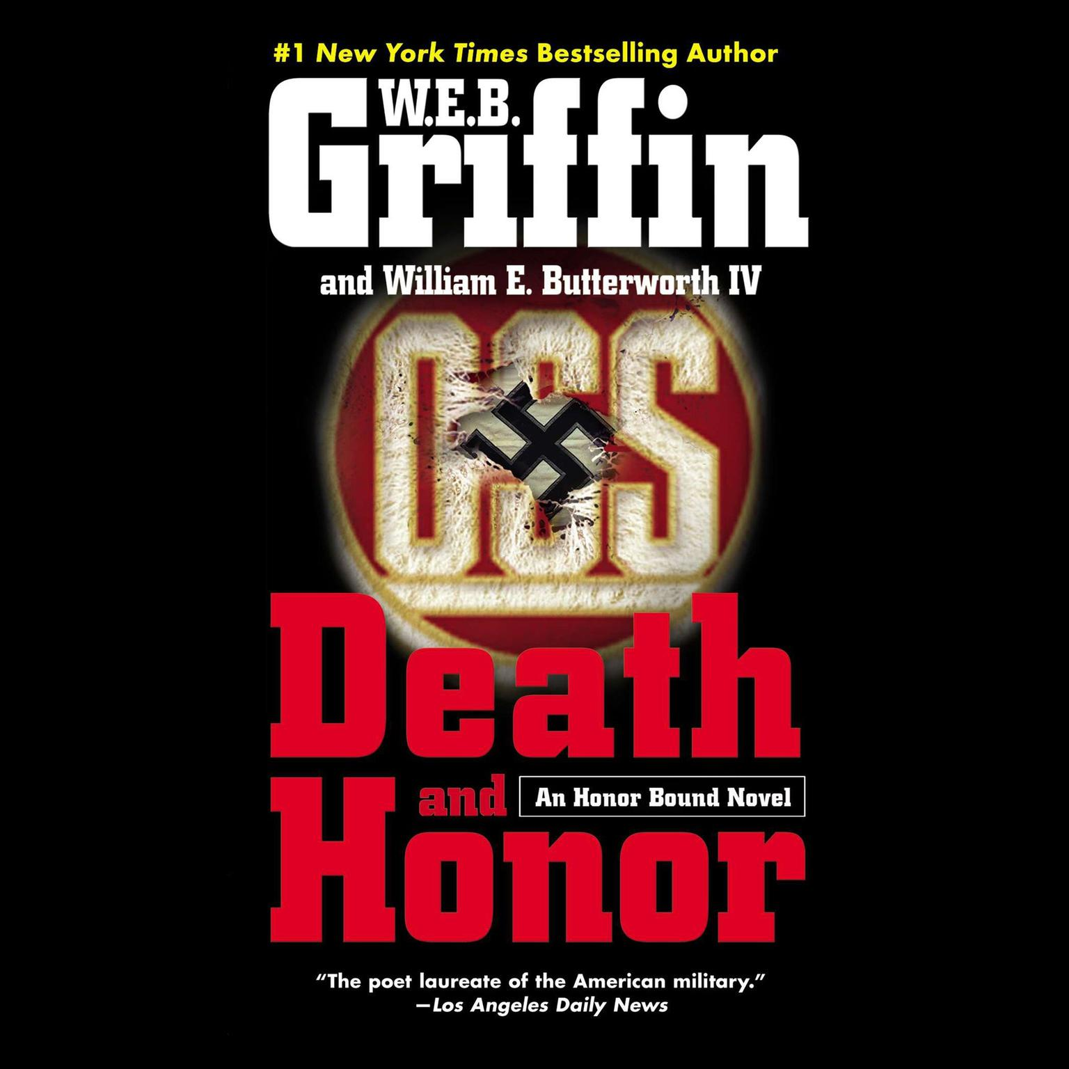 Printable Death and Honor Audiobook Cover Art