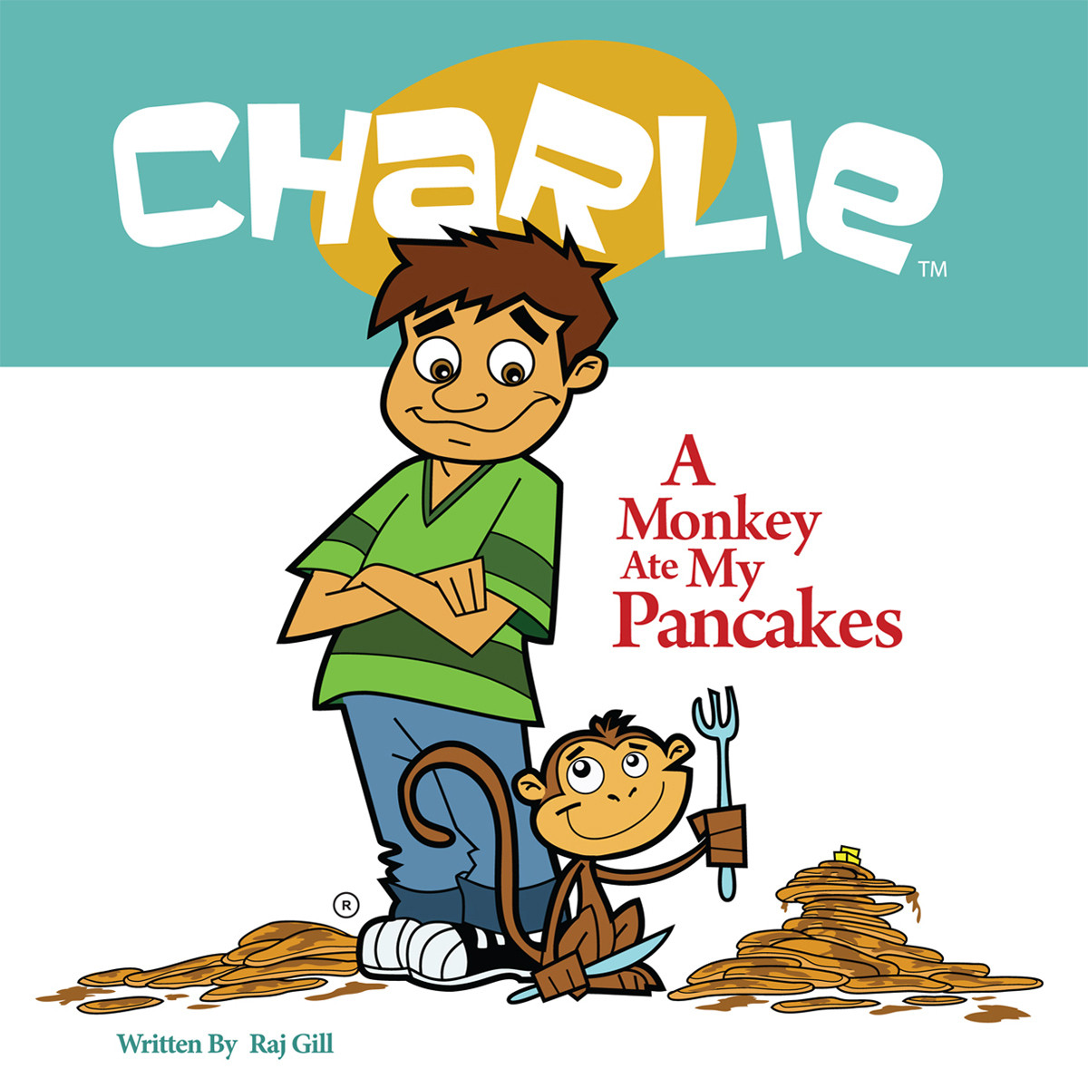 Printable A Monkey Ate My Pancakes Audiobook Cover Art