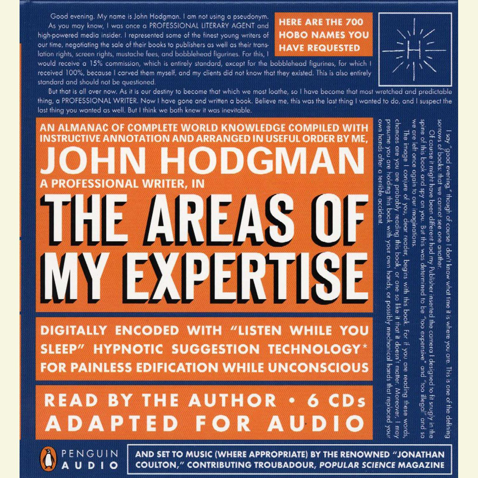 Printable The Areas of My Expertise: An Almanac of Complete World Knowledge Compiled with Instructive Annotation and Arranged in Useful Order Audiobook Cover Art