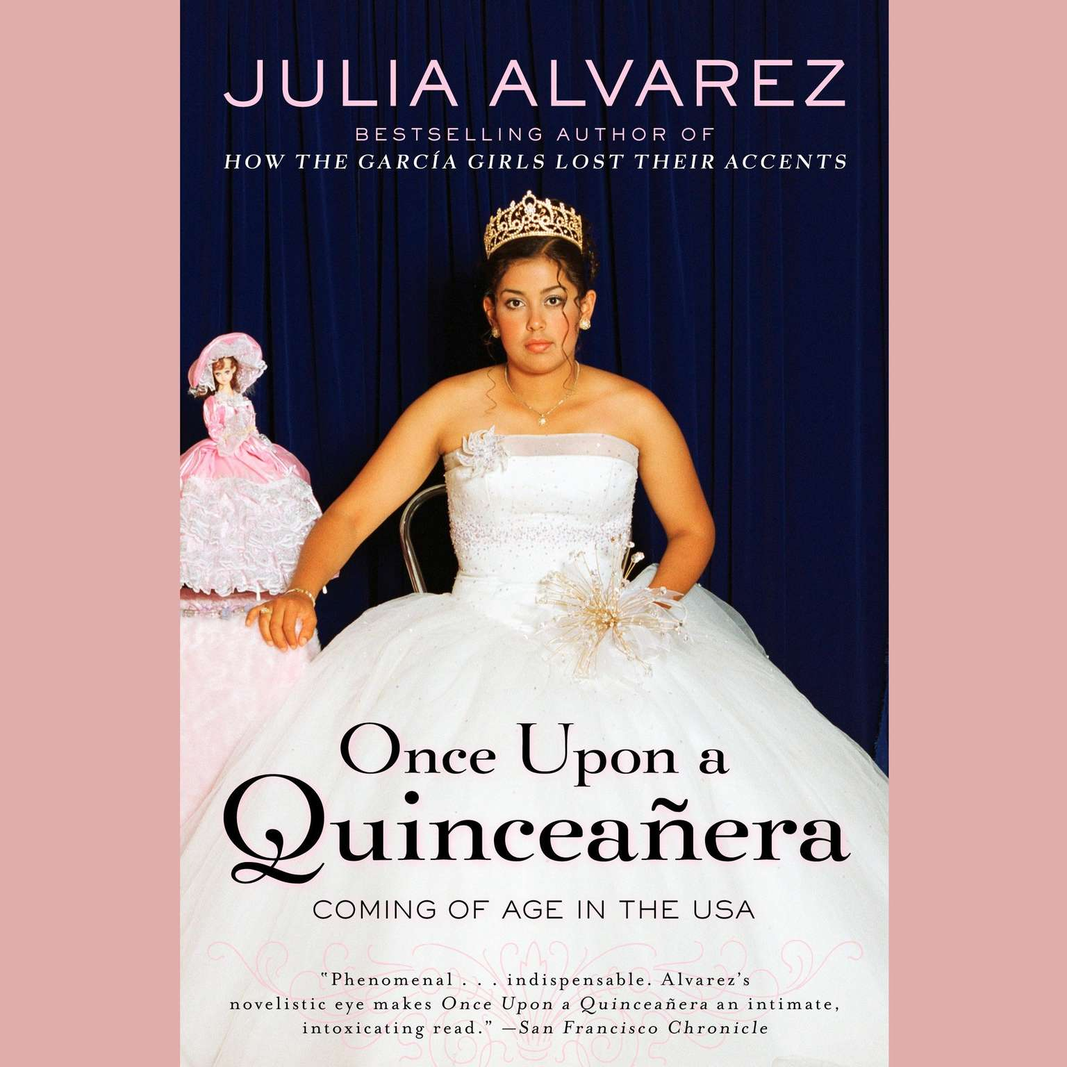 Printable Once Upon a Quinceanera: Coming of Age in the USA Audiobook Cover Art