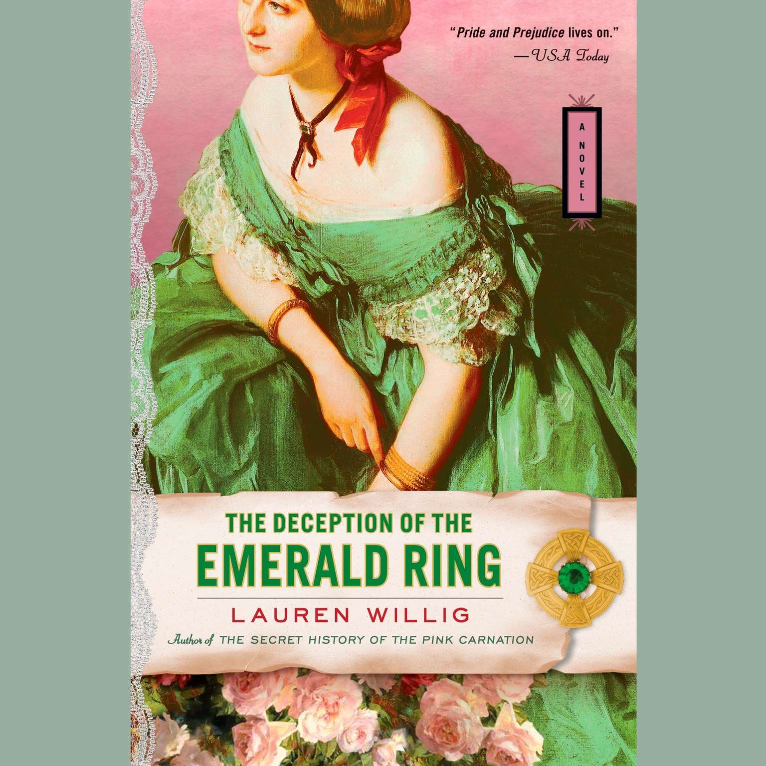 Printable The Deception of the Emerald Ring Audiobook Cover Art
