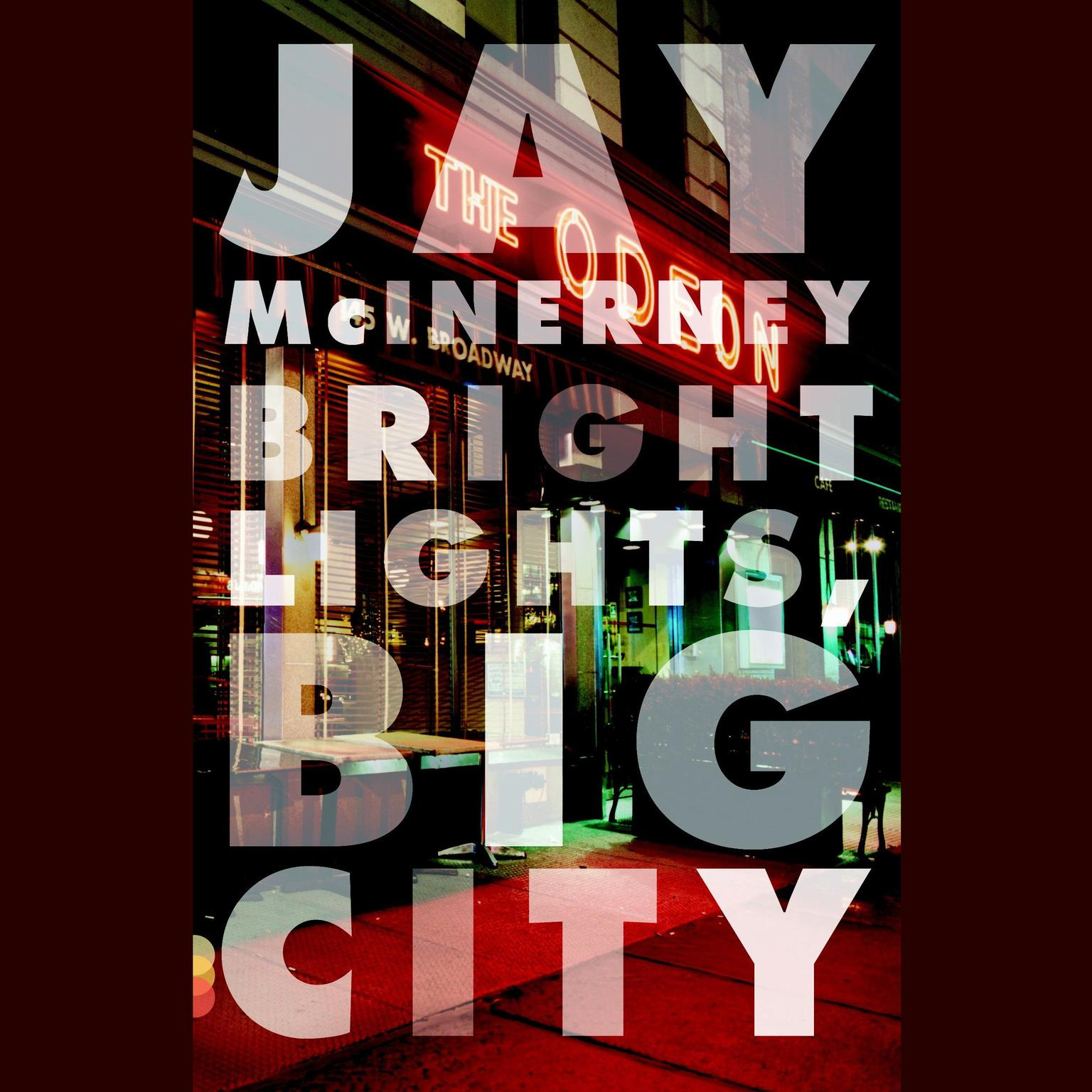 Printable Bright Lights, Big City Audiobook Cover Art