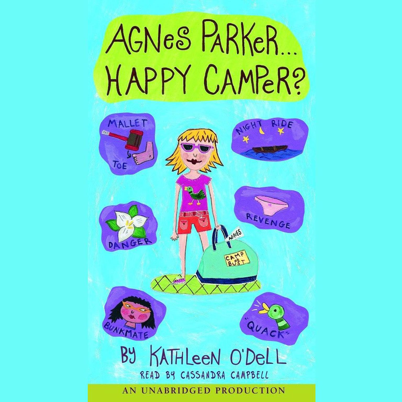 Printable Agnes Parker, Happy Camper Audiobook Cover Art