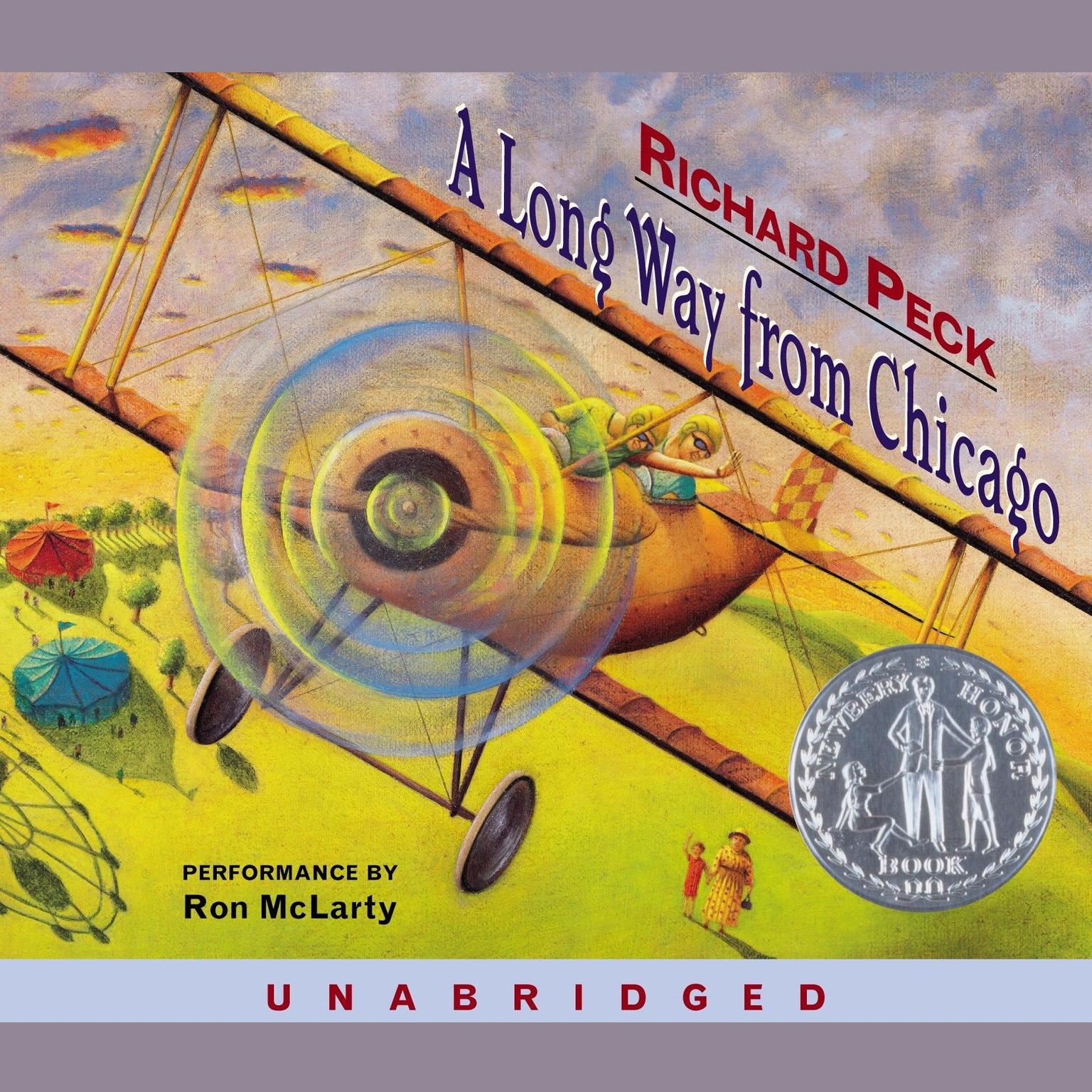 Printable A Long Way from Chicago Audiobook Cover Art