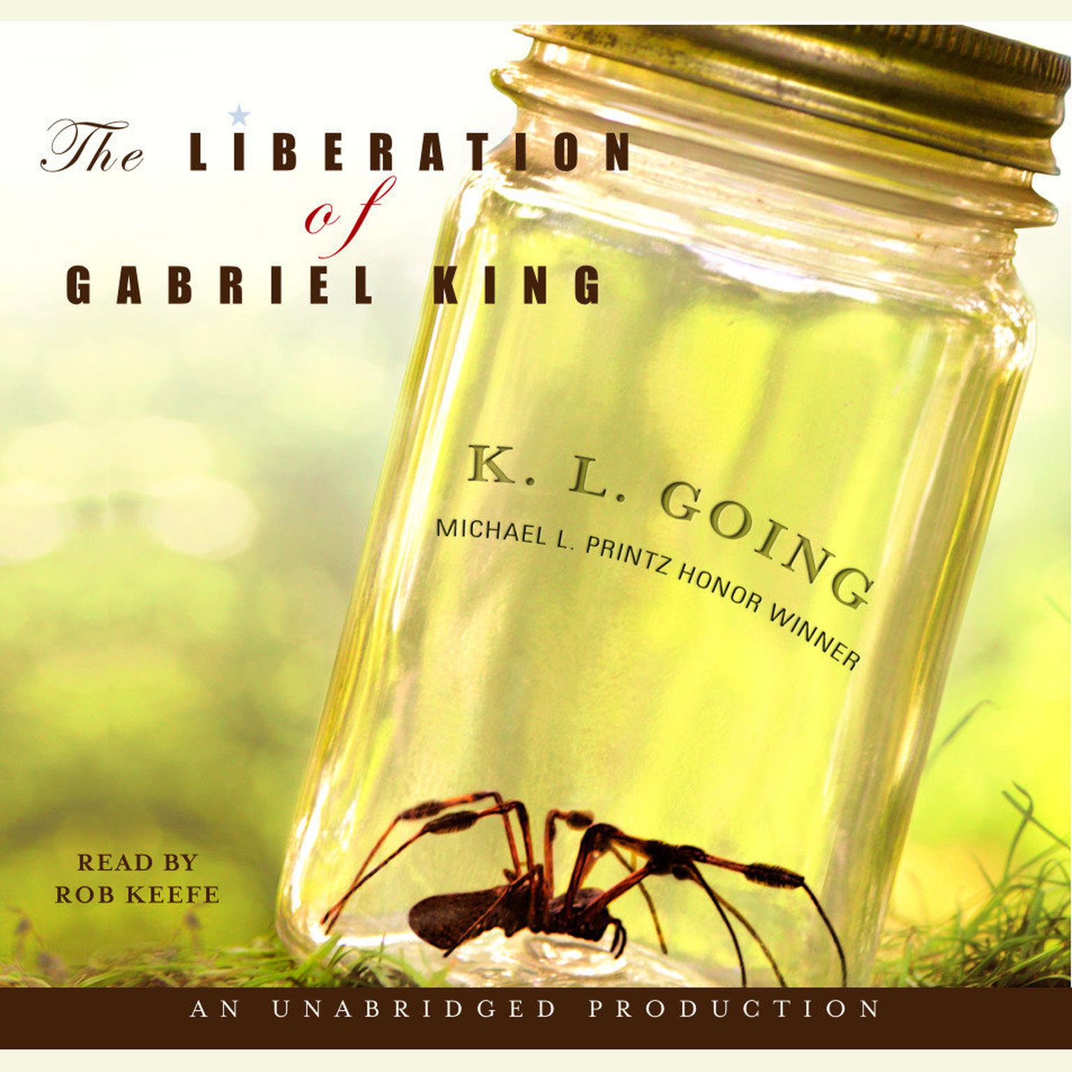 Printable The Liberation of Gabriel King Audiobook Cover Art