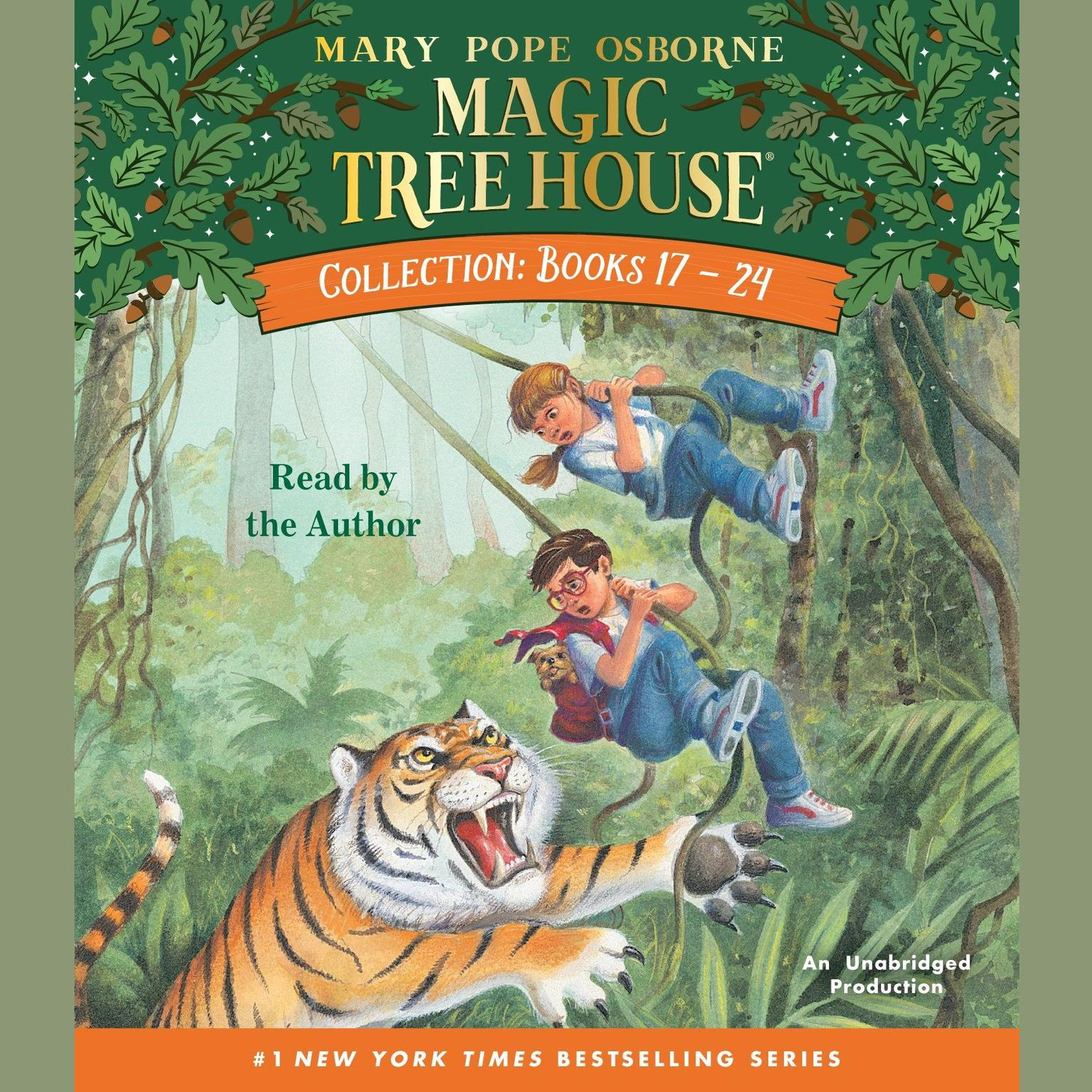 Printable Magic Tree House Collection: Books 17–24 Audiobook Cover Art