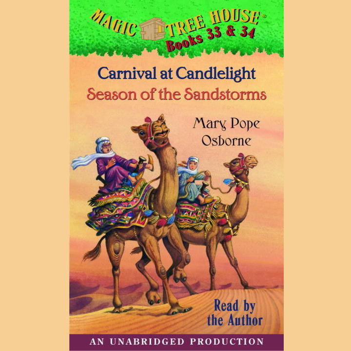 Printable Magic Tree House: Books 33 & 34: Carnival at Candlelight, Season of the Sandstorms Audiobook Cover Art