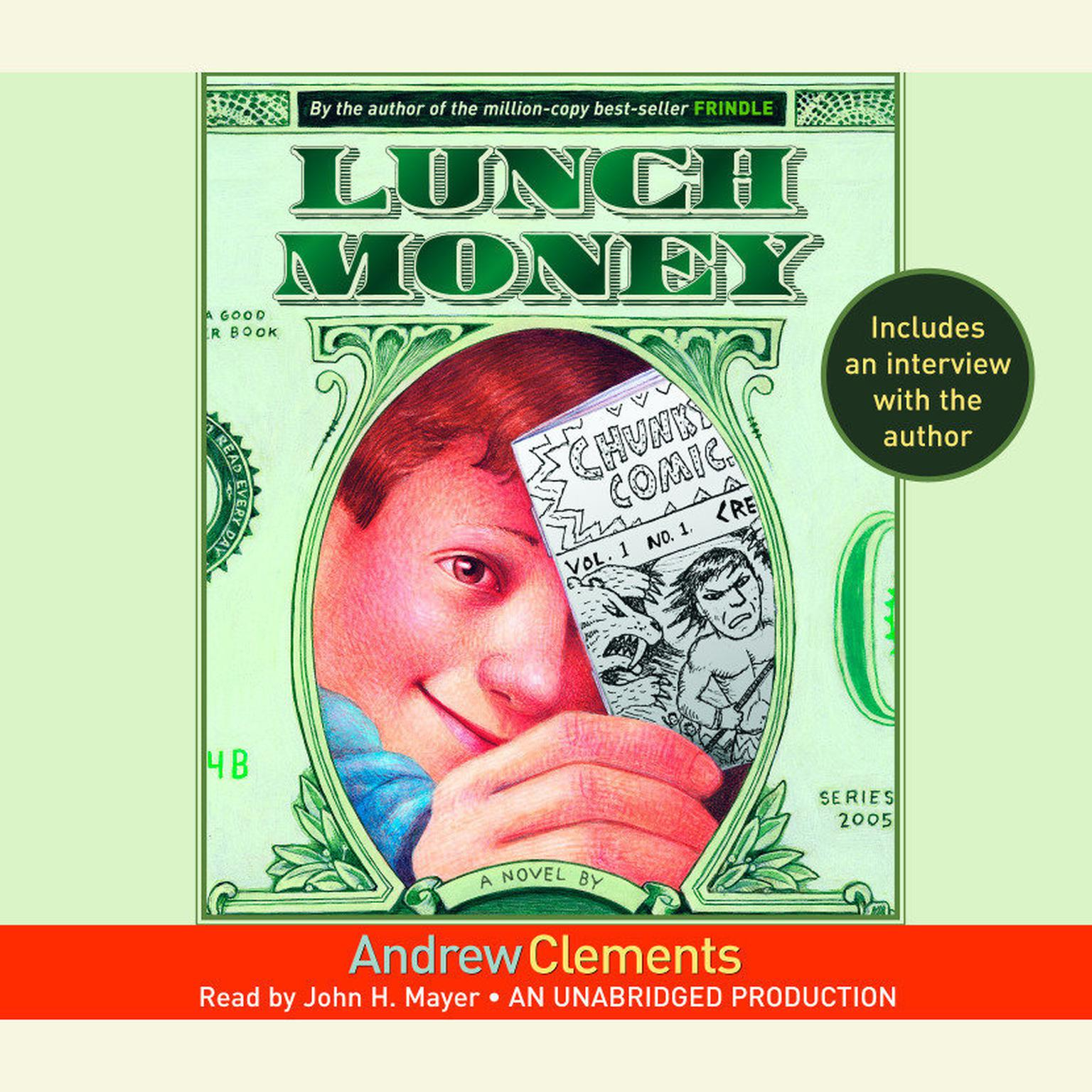 Printable Lunch Money Audiobook Cover Art