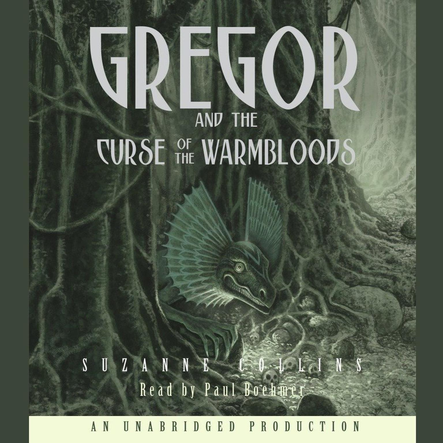 Printable The Underland Chronicles Book Three: Gregor and the Curse of the Warmbloods Audiobook Cover Art