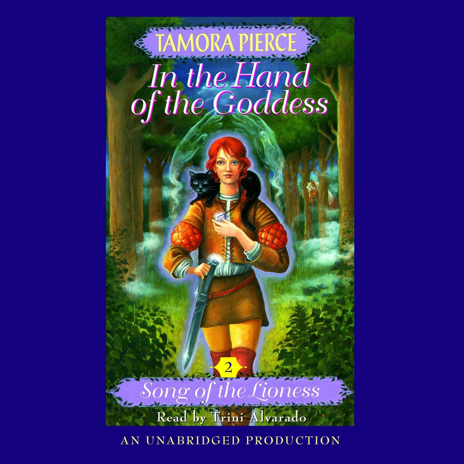 Printable In the Hand of the Goddess: Song of the Lioness #2 Audiobook Cover Art