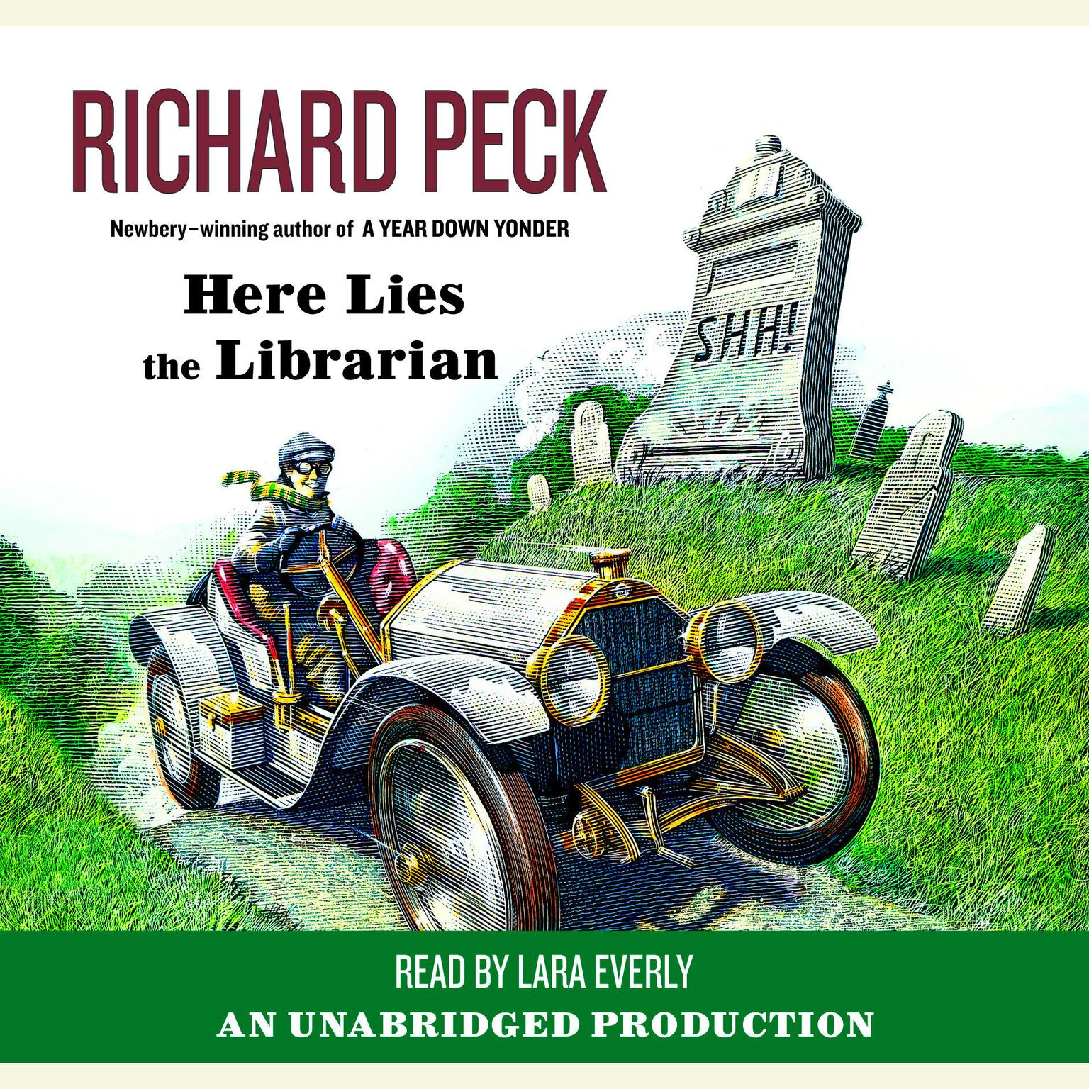 Printable Here Lies the Librarian Audiobook Cover Art
