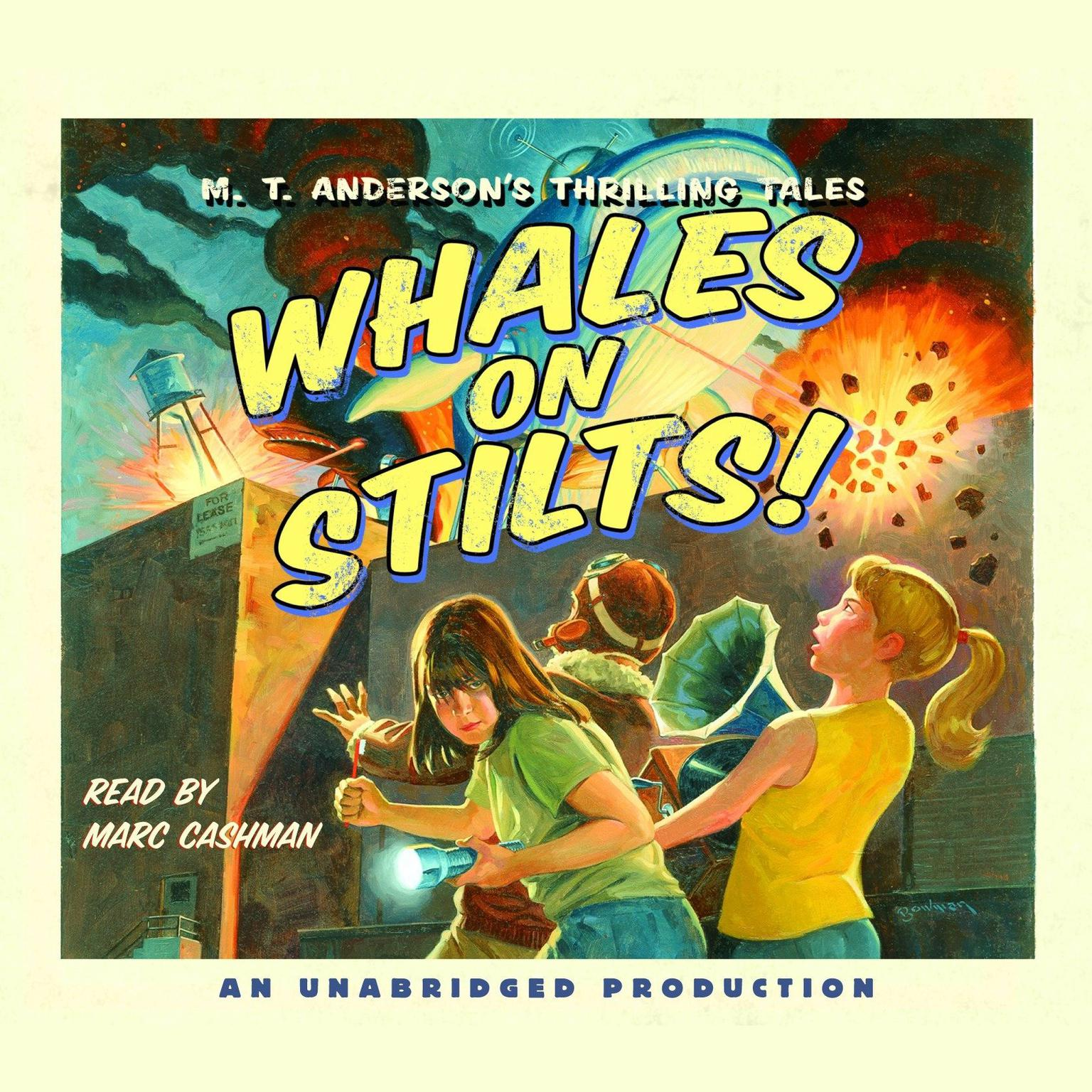Printable Whales on Stilts: M.T. Anderson's Thrilling Tales Audiobook Cover Art