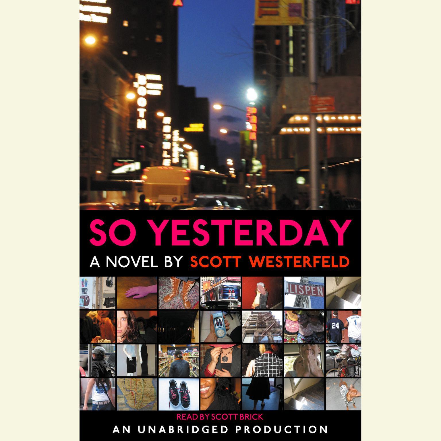 Printable So Yesterday Audiobook Cover Art