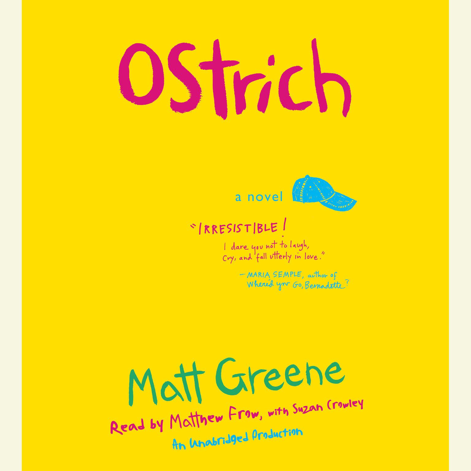 Printable Ostrich: A Novel Audiobook Cover Art