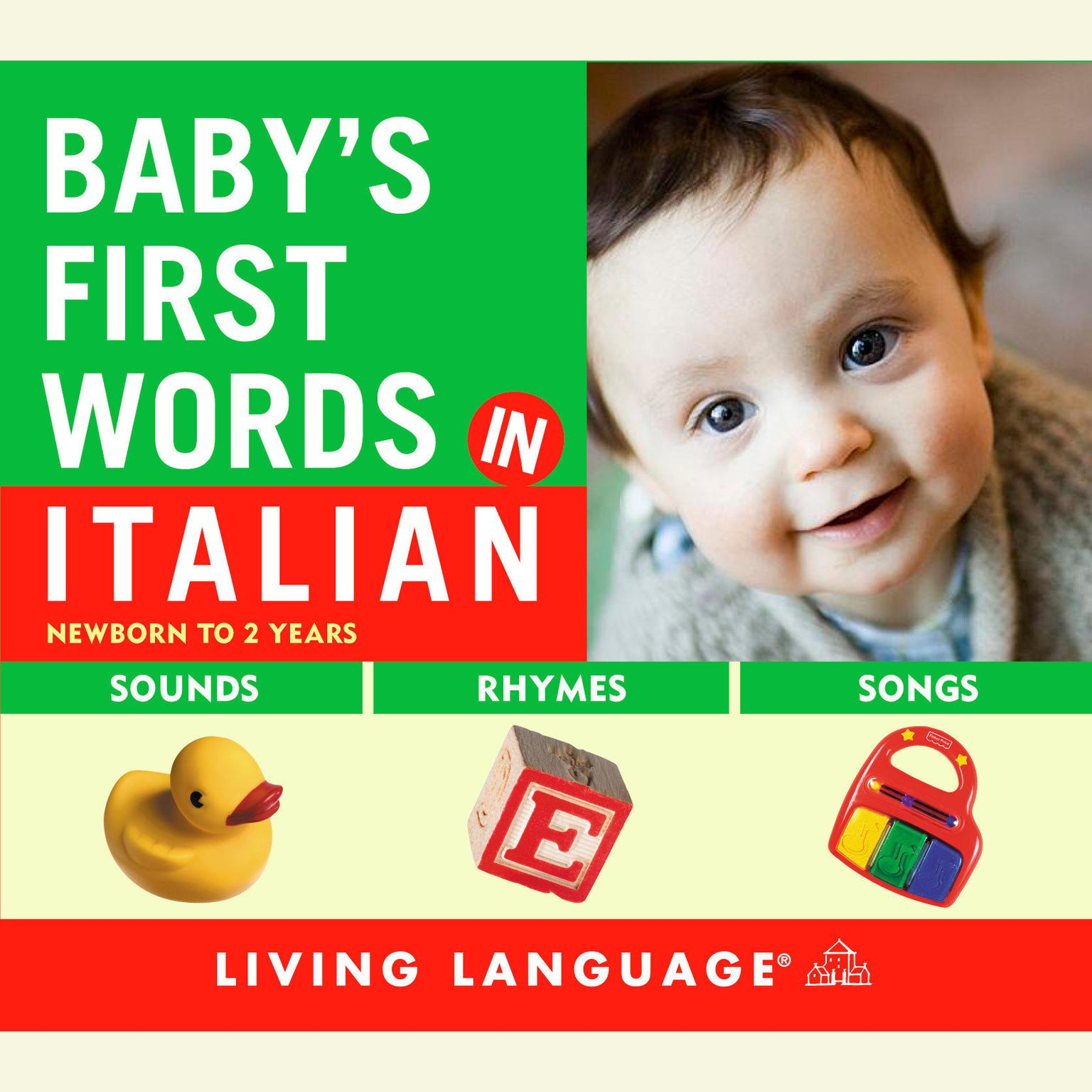 Printable Baby's First Words in Italian Audiobook Cover Art