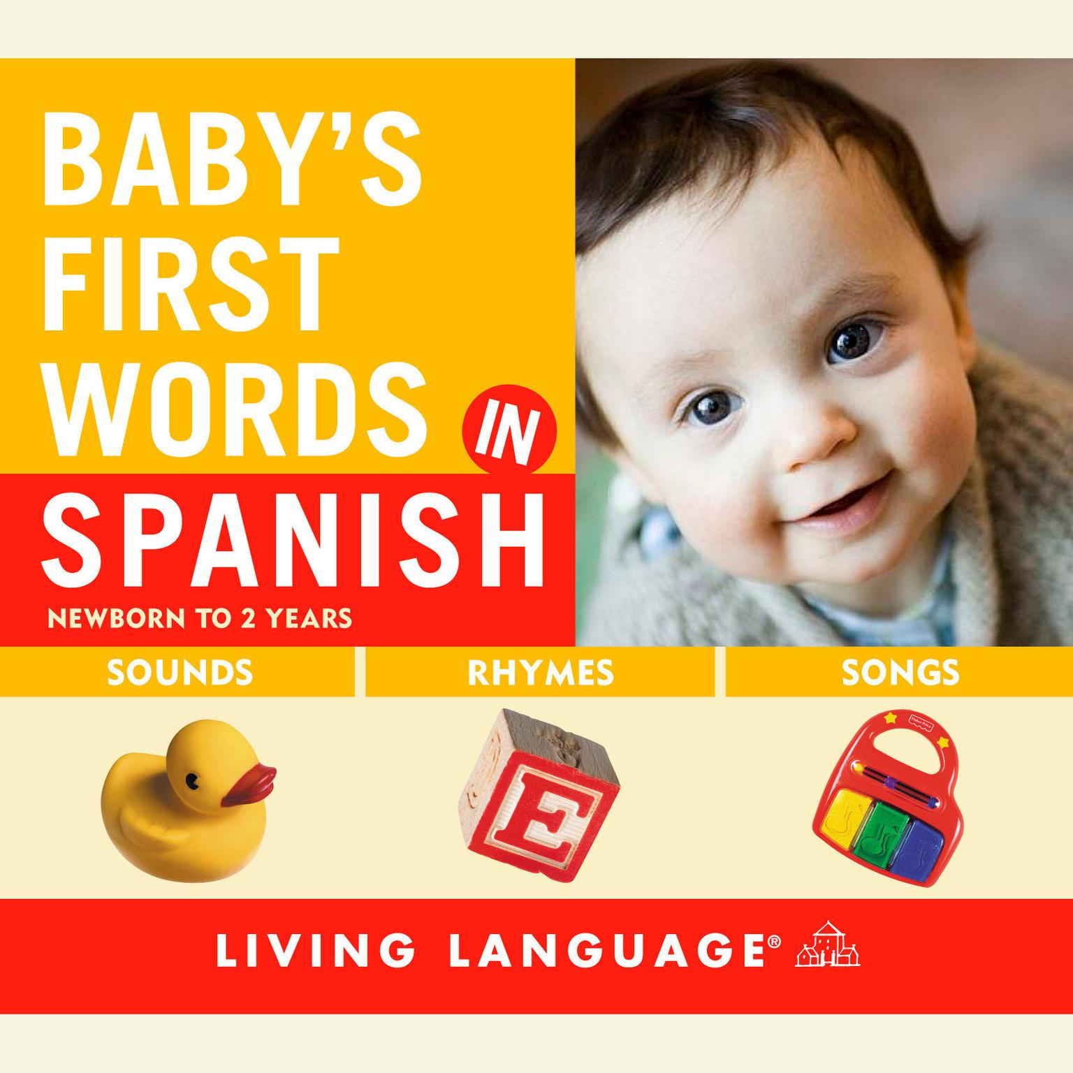Printable Baby's First Words in Spanish Audiobook Cover Art