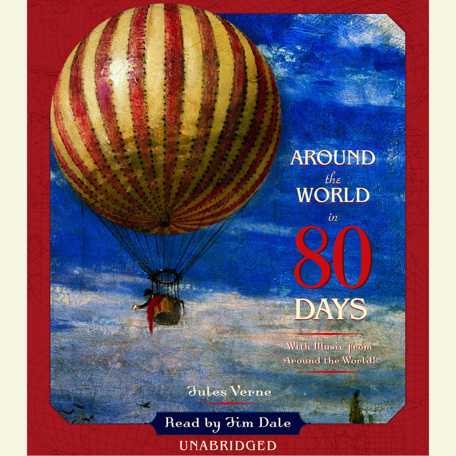 Printable Around the World in 80 Days Audiobook Cover Art