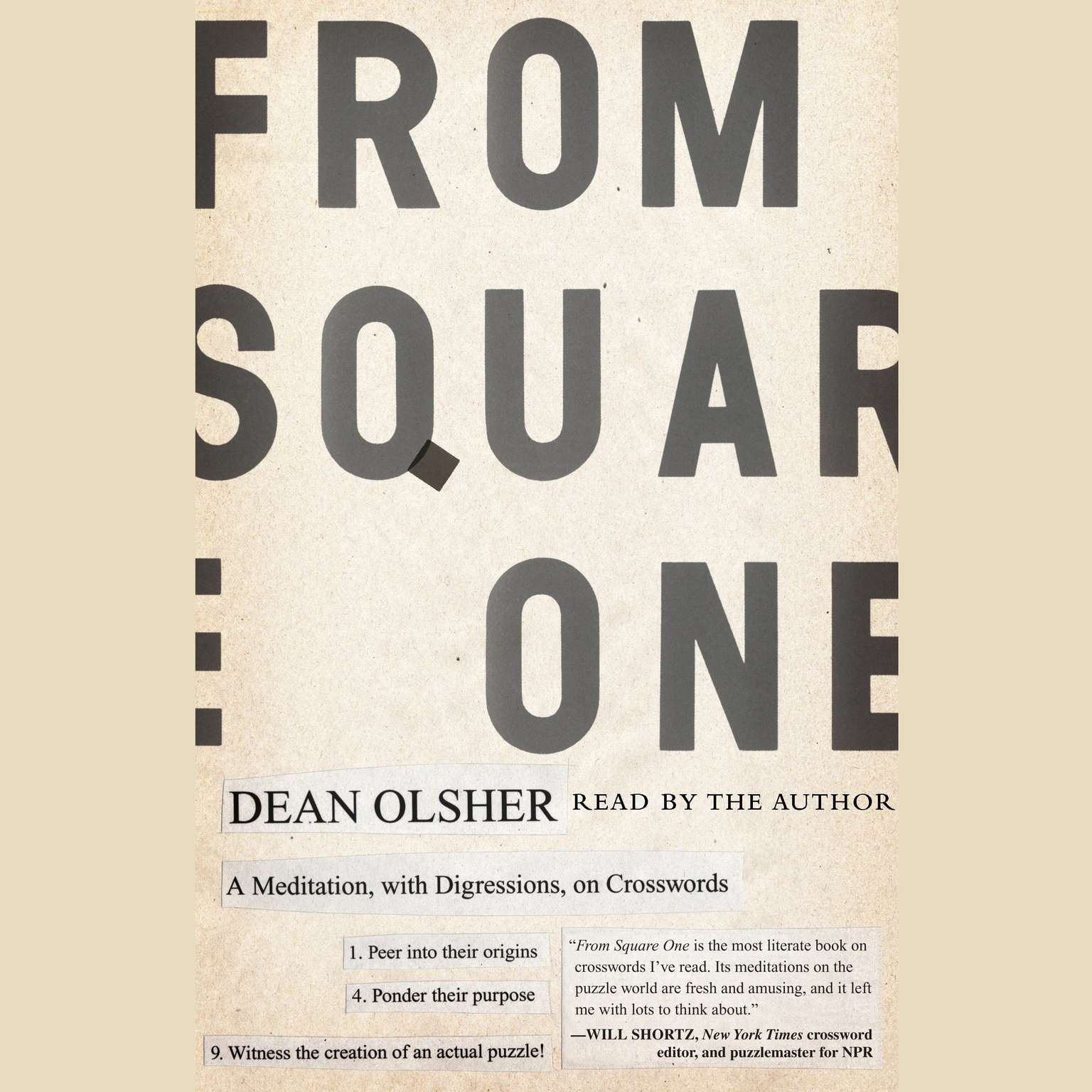 Printable From Square One: A Meditation, with Digressions, on Crosswords Audiobook Cover Art