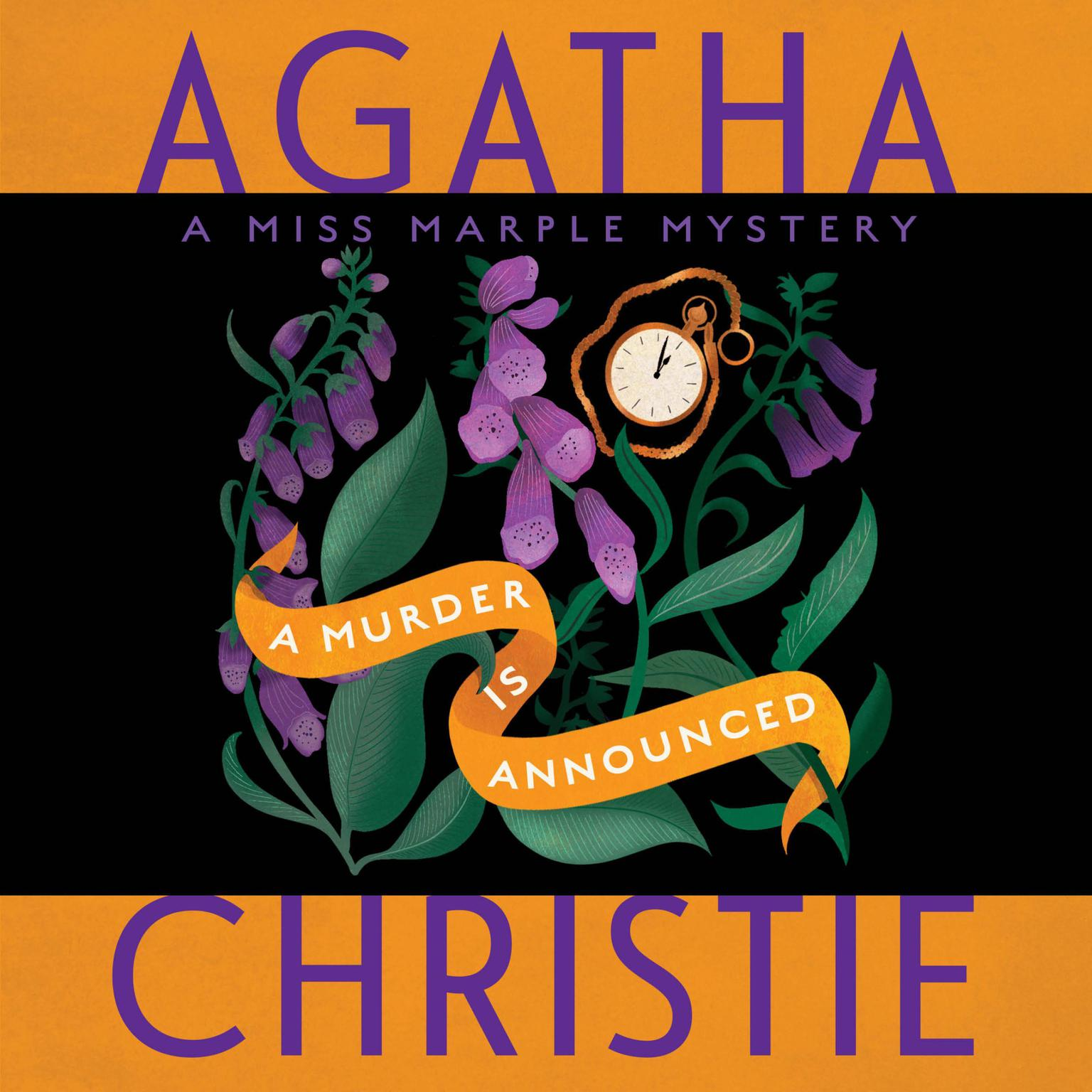 Printable A Murder Is Announced: A Miss Marple Mystery Audiobook Cover Art