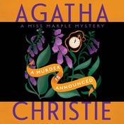 A Murder Is Announced: A Miss Marple Mystery, by Agatha Christie