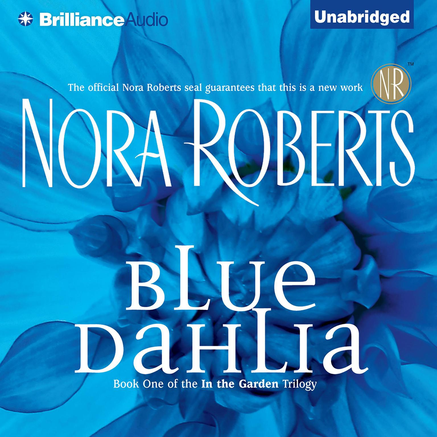 Printable Blue Dahlia Audiobook Cover Art