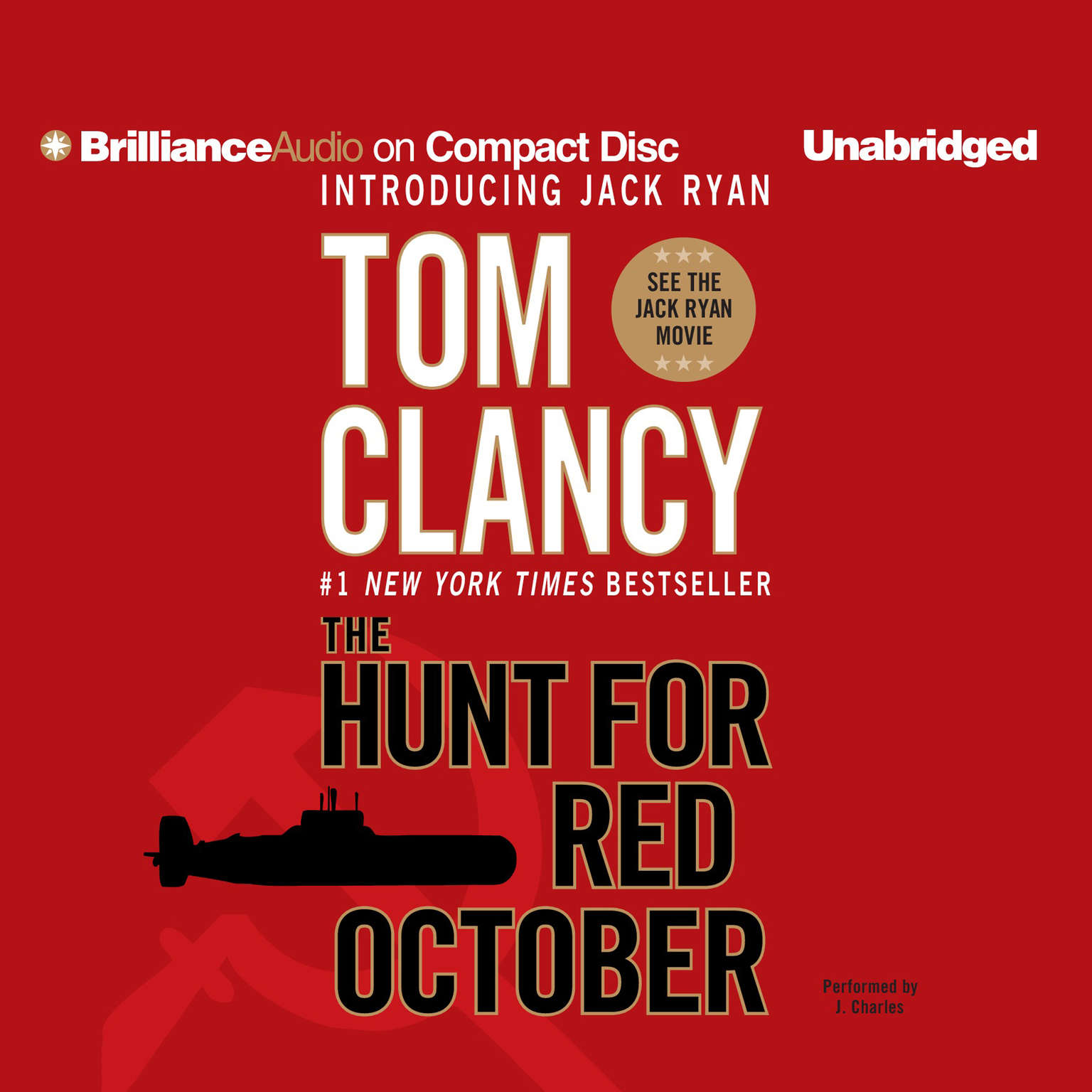 Printable The Hunt for Red October Audiobook Cover Art