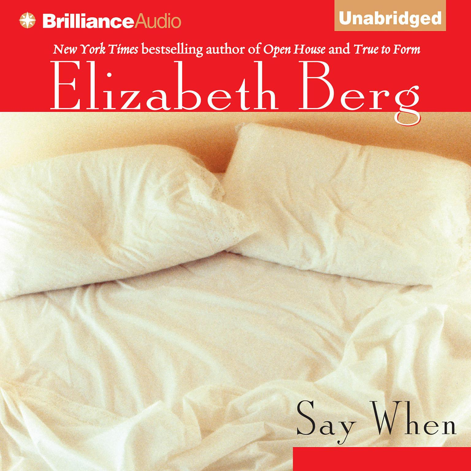 Printable Say When Audiobook Cover Art