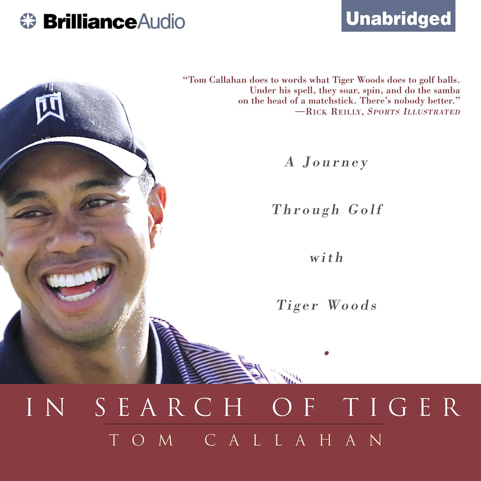 Printable In Search of Tiger: A Journey Through Golf with Tiger Woods Audiobook Cover Art