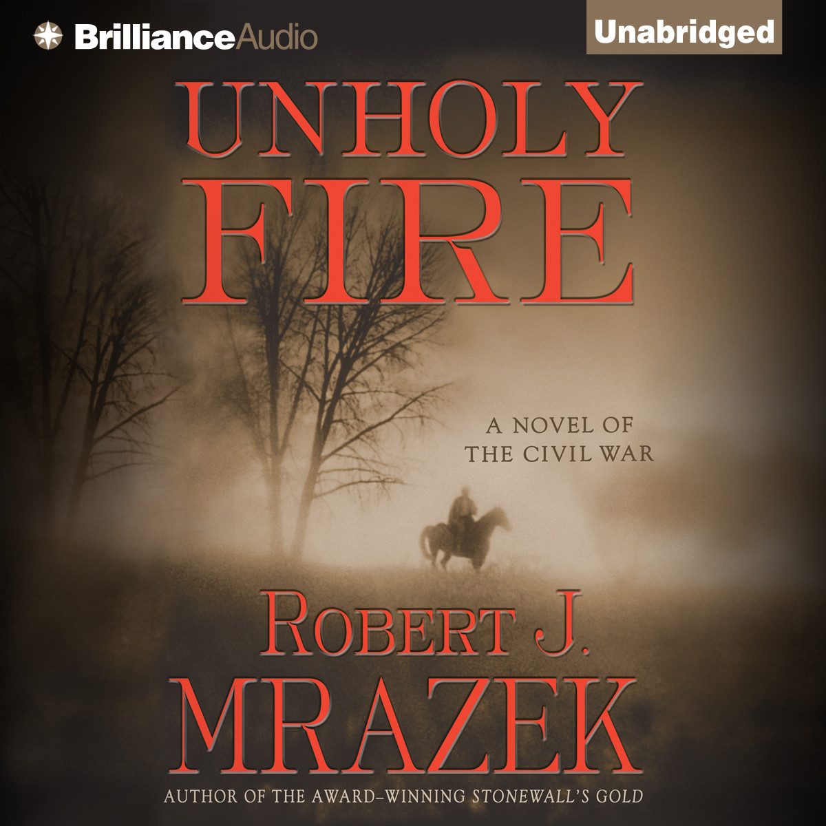Printable Unholy Fire Audiobook Cover Art