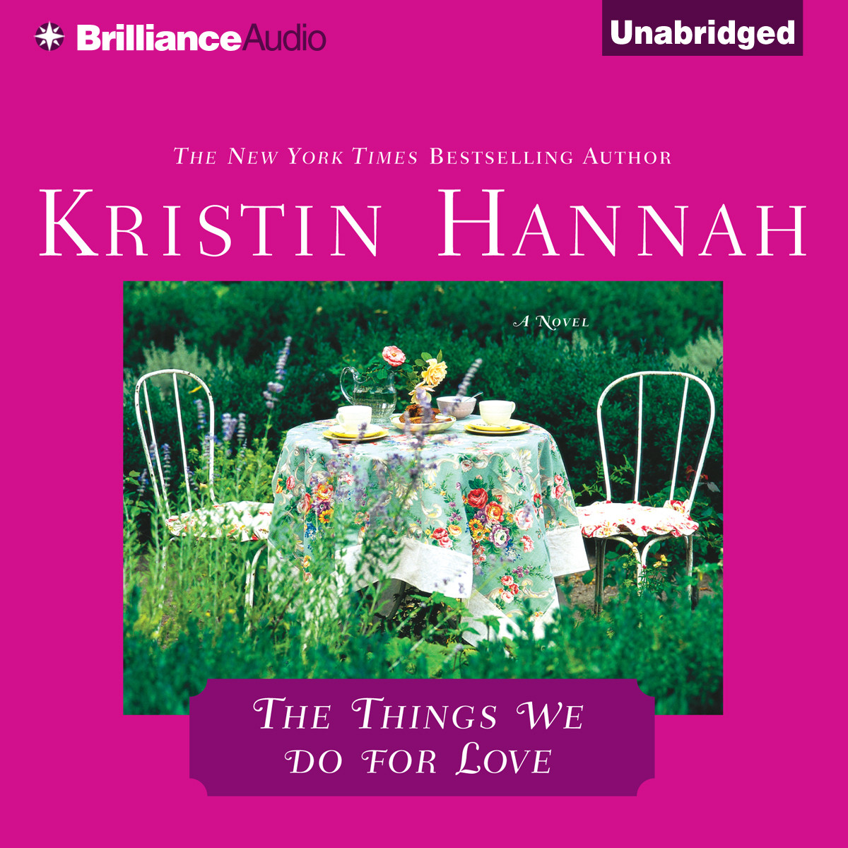 Printable The Things We Do for Love Audiobook Cover Art