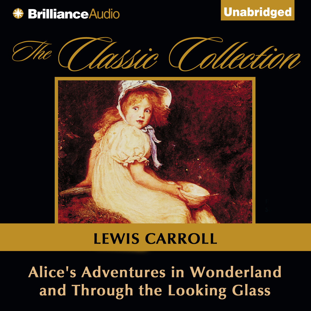 Printable Alice's Adventures in Wonderland and Through the Looking Glass Audiobook Cover Art