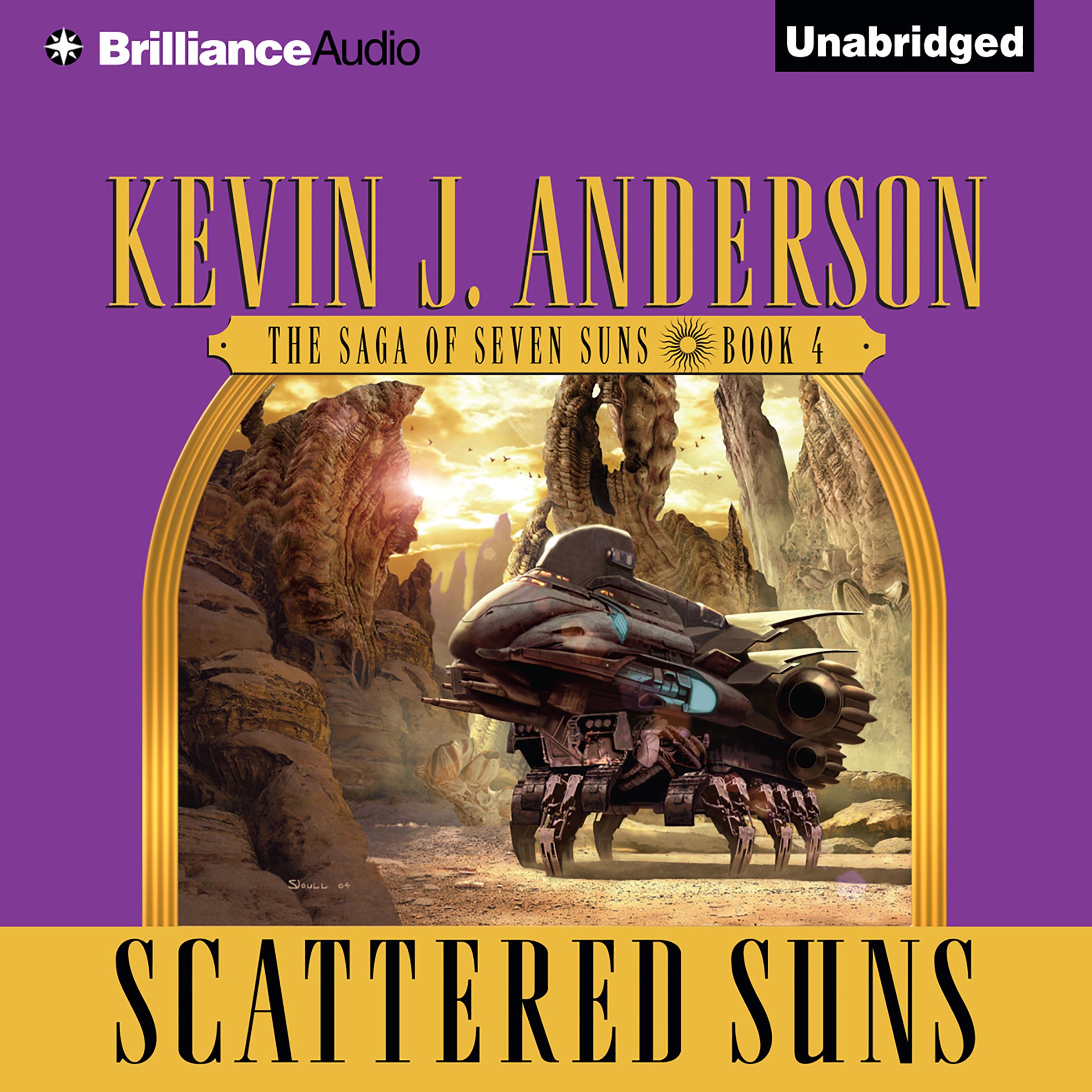 Printable Scattered Suns Audiobook Cover Art