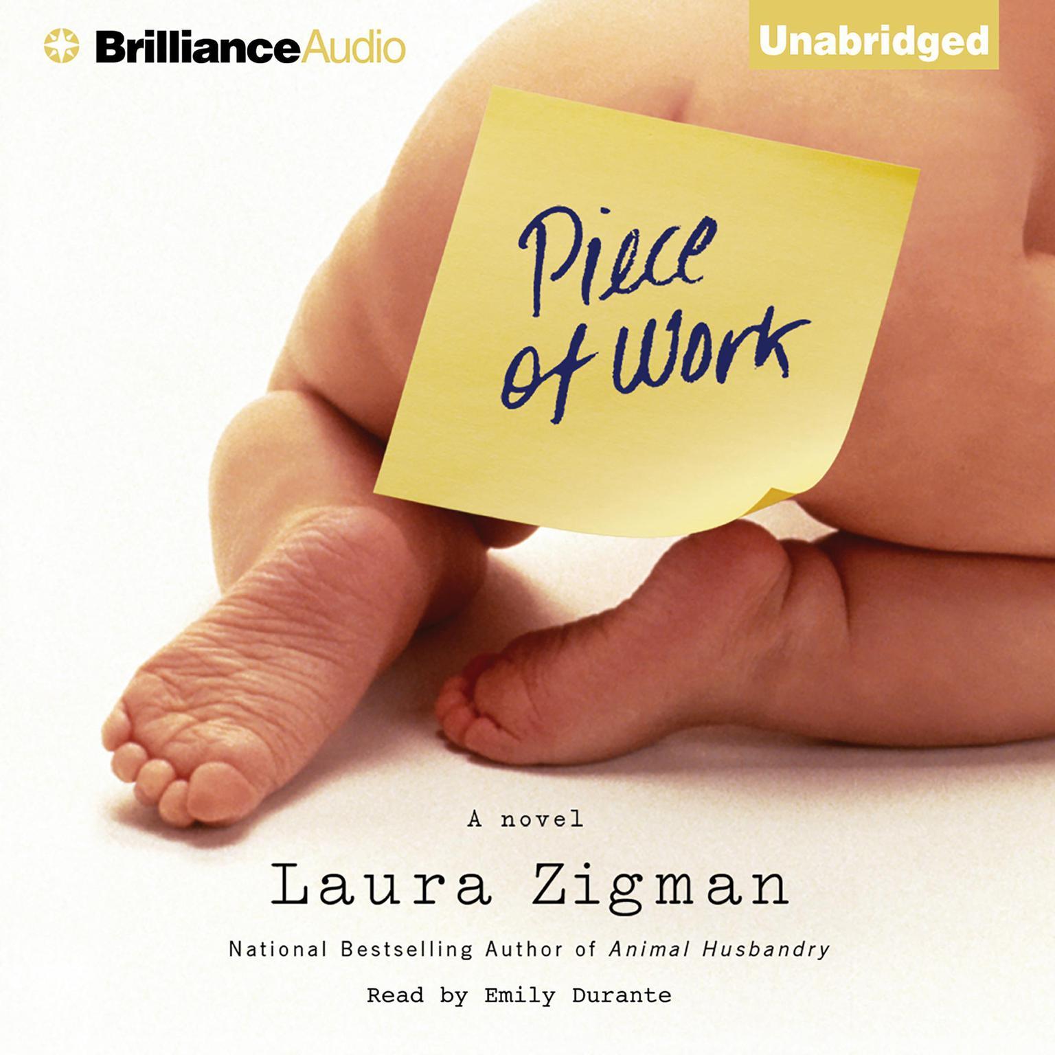 Printable Piece of Work Audiobook Cover Art