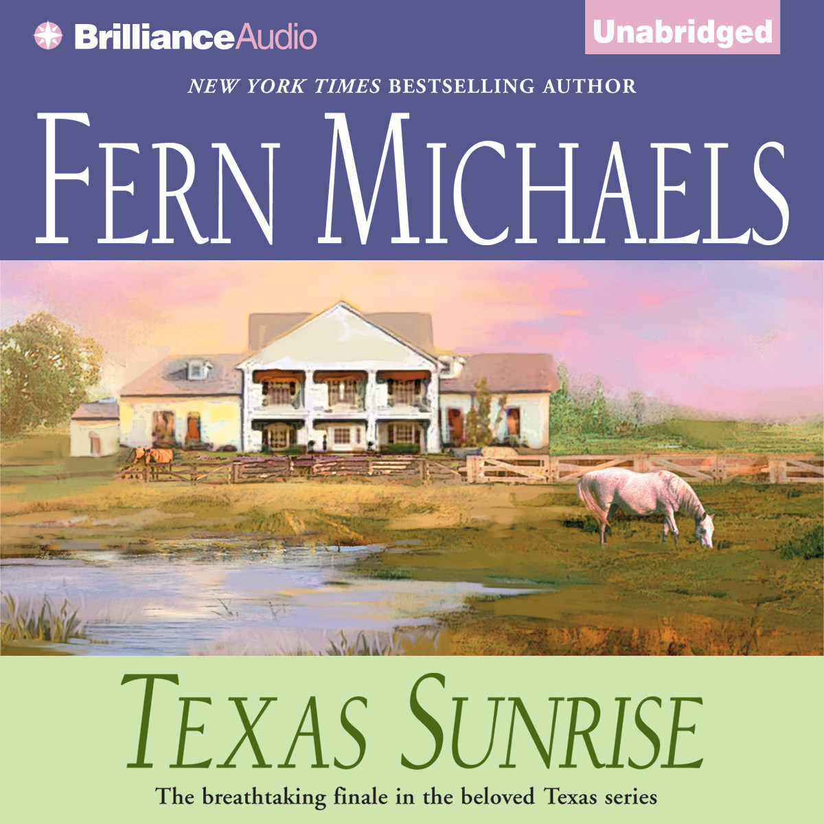 Printable Texas Sunrise Audiobook Cover Art