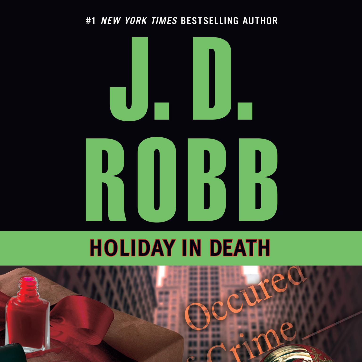 Printable Holiday in Death Audiobook Cover Art