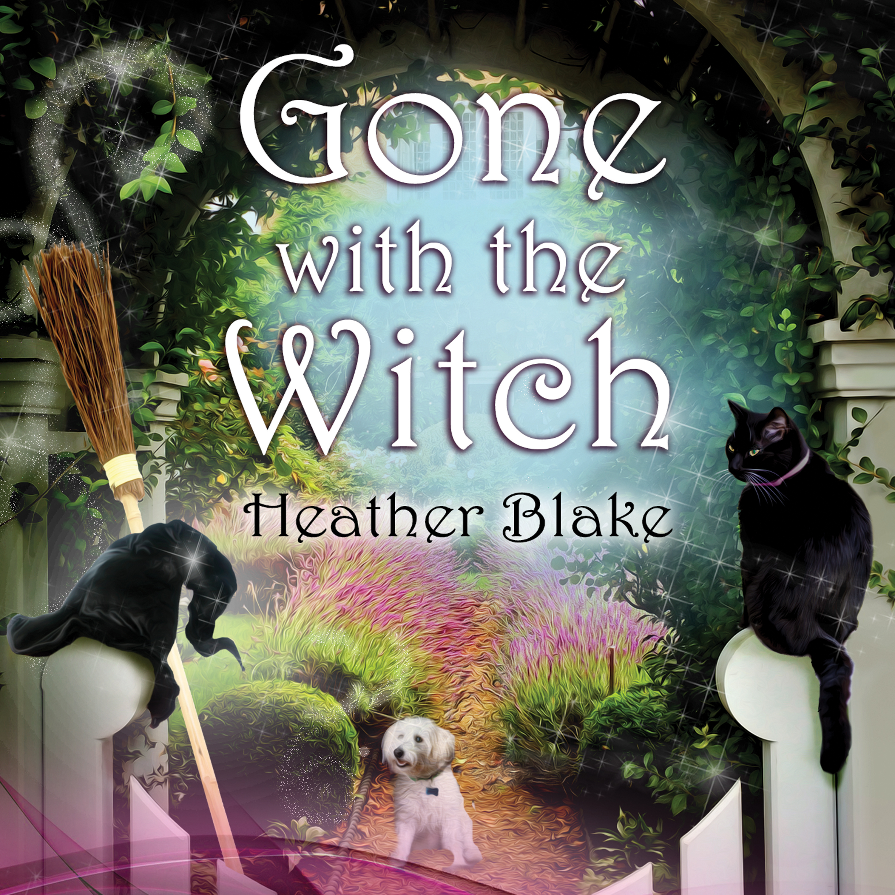Printable Gone With the Witch Audiobook Cover Art